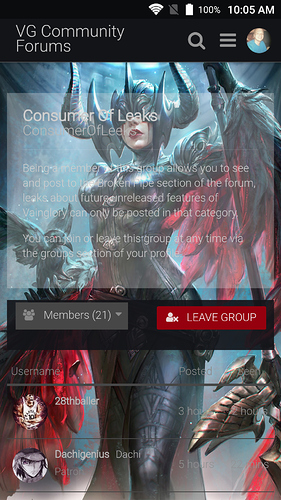 Groups Page! - Forum Suggestions - VG Community Forums