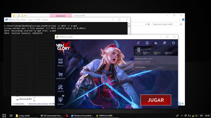 How to record and mirror Vainglory on Android to a computer over USB